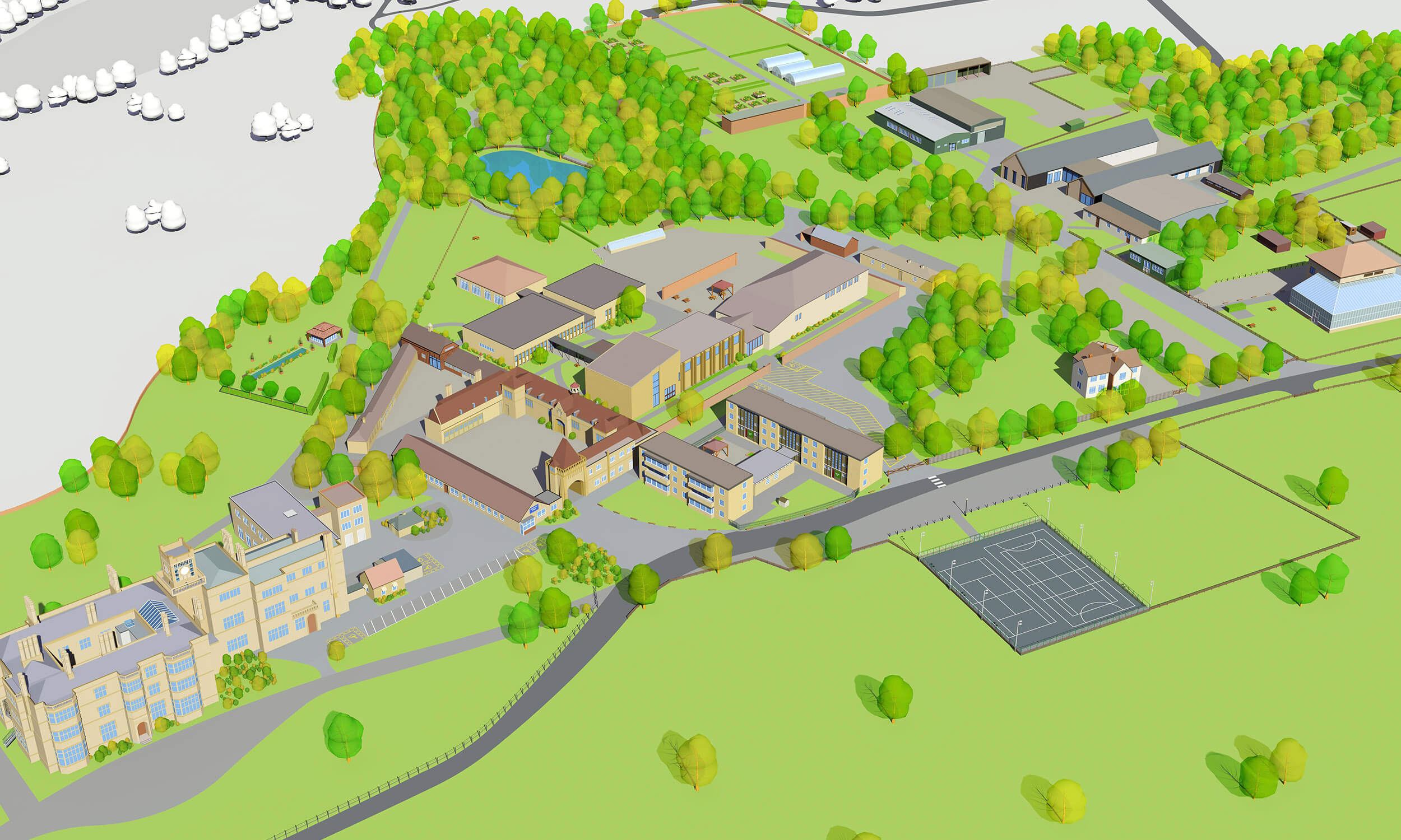 A map of the Shuttleworth Campus at Bedford College